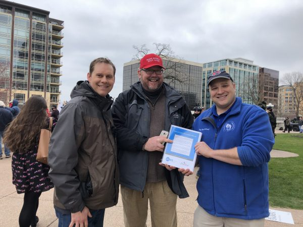 Personhood - Pro-Life Wisconsin delivers COVID-19 sidewalk counseling petition