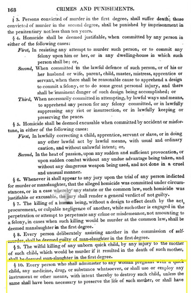Personhood Alliance - 1835 Missouri abortion law