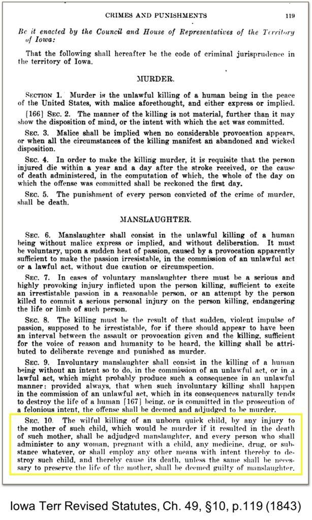 Personhood Alliance - personhood abortion law Iowa