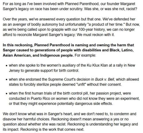 Personhood Alliance - Planned Parenhood Sanger racism